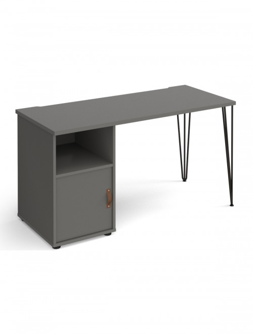 Home Office Desk Grey Tikal Home Workstation TK614P-C-OG-OG-by Dams