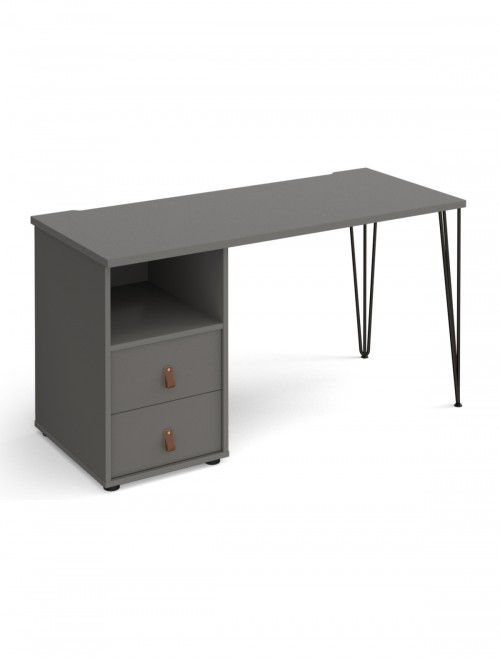 Home Office Desk Grey Tikal Home Workstation TK614P-D-OG-OG by Dams