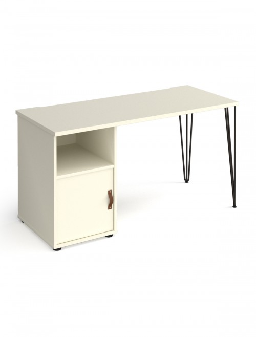 Home Office Desk White Tikal Home Workstation TK614P-C-WH-WH by Dams