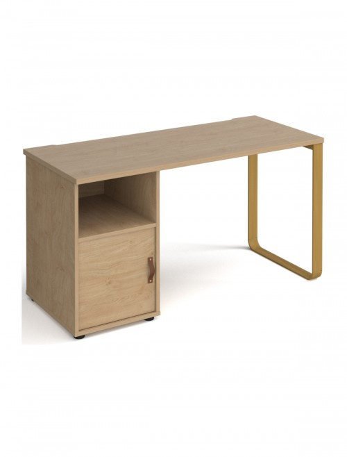 Home Office Desk Oak Cairo Home Workstation CR614P-C-KO-KO by Dams