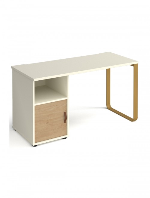 Home Office Desk Oak and White Cairo Home Workstation CR614P-C-KO-WH by Dams