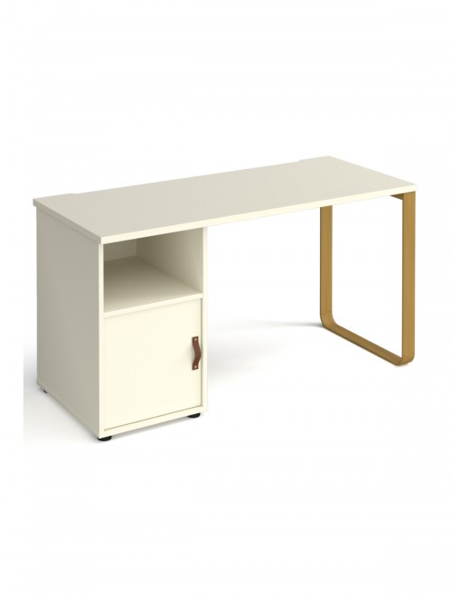 Home Office Desk White Cairo Home Workstation CR614P-C-WH-WH by Dams