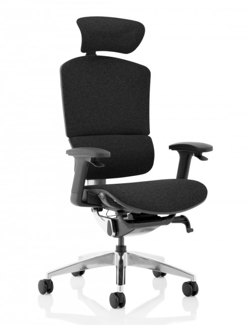FabriMesh Office Chair Black Ergo Click Plus 24hr Chair with Headrest PO000062 by Dynamic