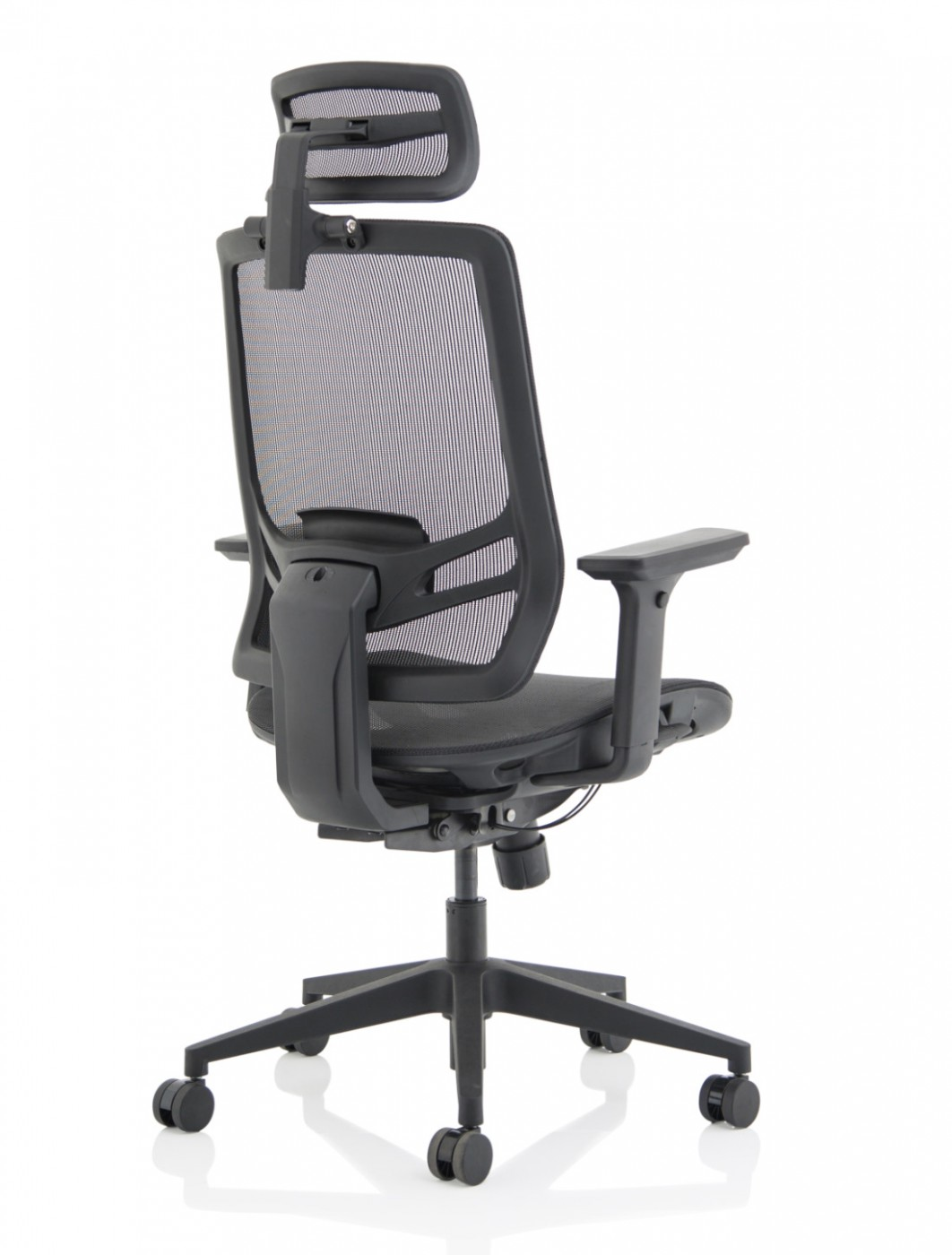 Mesh Office Chair Black Ergo Twist Chair with Headrest KC0299 by Dynamic