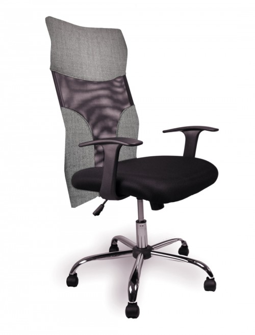 Mesh Office Chair grey Aries Computer Chair 1529M/GY by Eliza Tinsley