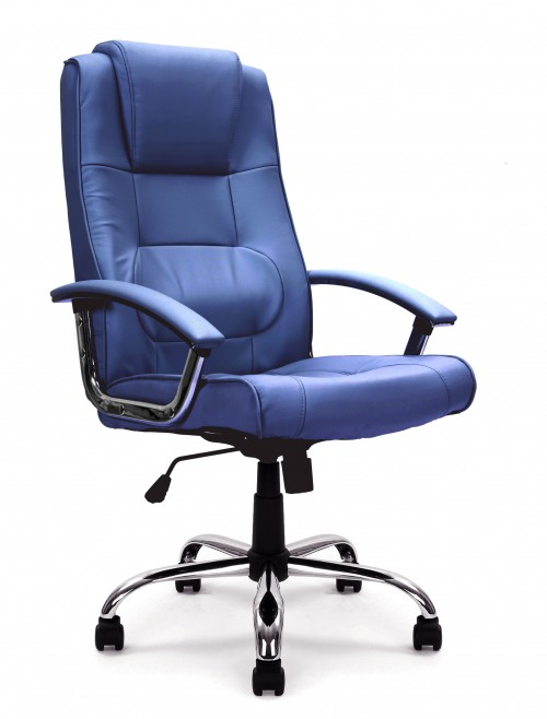 Office Chair Blue Leather Westminster Executive Chair 2008ATG/LBL by Eliza Tinsley