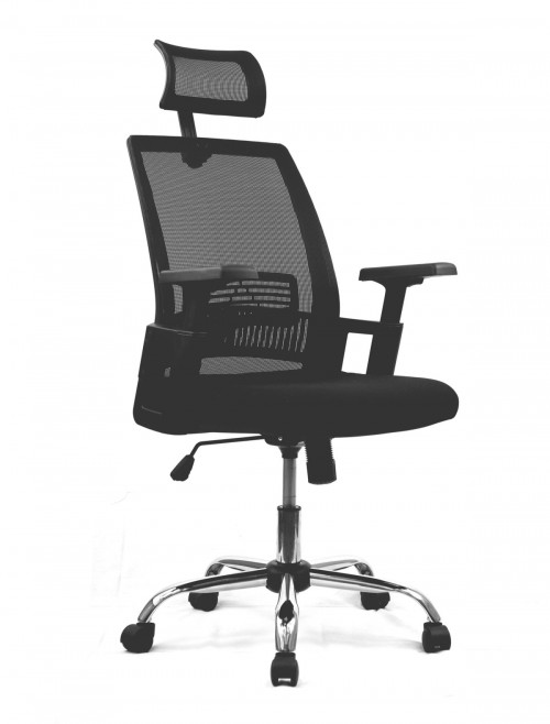 Mesh Office Chair Black Alpha Computer Chair BCM/F816/BK by Eliza Tinsley