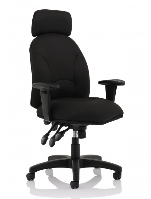 Office Chair Black Jet Fabric Executive Chair OP000236 by Dynamic