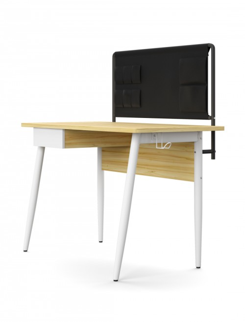 Home Office Desk Oak and White Freemont Computer Desk AW3617WHI by Alphason Dorel