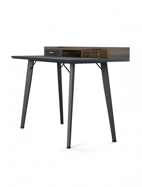 Home Office Desk Grey and Walnut Memphis Computer Desk AW3615GRY by Alphason Dorel