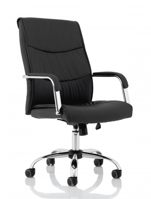 Office Chair Black Carter Faux Leather Computer Chair EX000148 by Dynamic