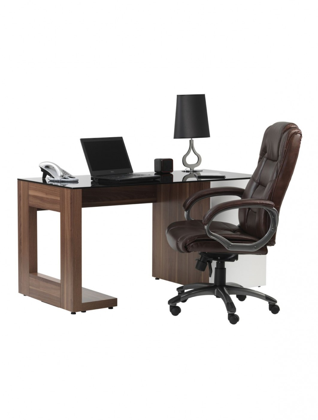 Office Chair Brown Leather Faced Northland Executive Chair AOC6332-L-BR by Alphason