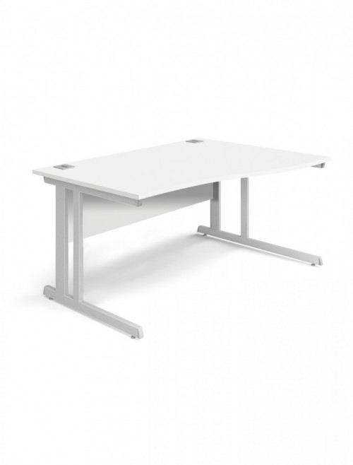 White Office Desk 1400mm Aspire Wave Desk Right Handed ET/WV/1400/R/WH