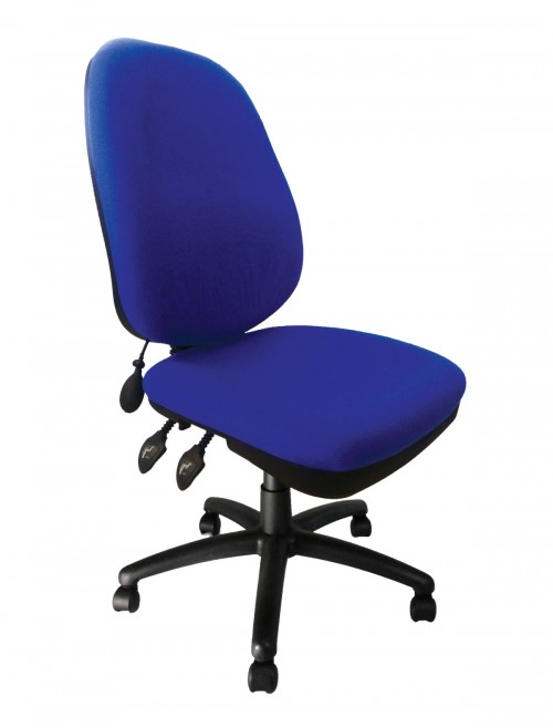 Fabric Office Chair Blue Carlisle High Back Operator Chair BCF/Q707/BL by Eliza Tinsley
