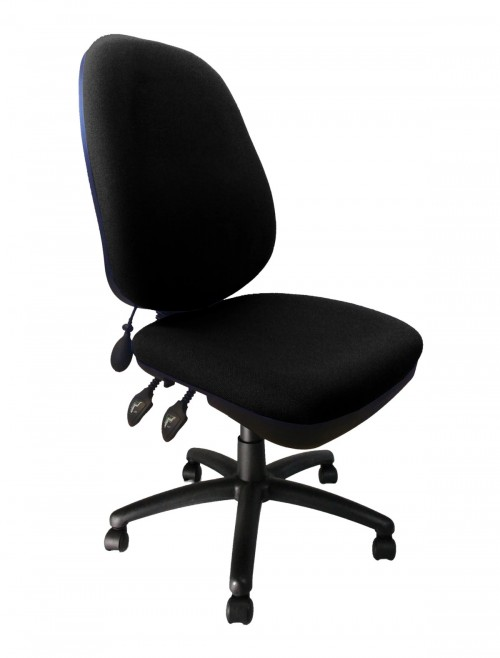 Fabric Office Chair Black Carlisle High Back Operator Chair BCF/Q707/BK by Eliza Tinsley