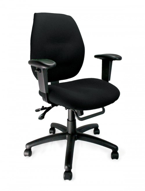 Fabric Office Chair Black Severn Ergonomic Operator Chair 1435MBSY/ABK by Eliza Tinsley