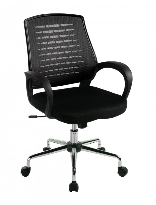 Mesh Office Chair Black Carousel Operator Chair BCM/F1203/BK by Eliza Tinsley