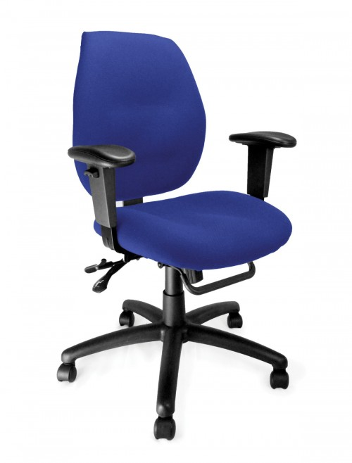 Fabric Office Chair Blue Severn Ergonomic Operator Chair 1435MBSY/ABL by Eliza Tinsley
