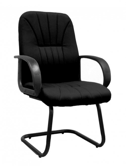 Visitors Chair Black Pluto Cantilever Chair BCF/S511AV/BK by Eliza Tinsley