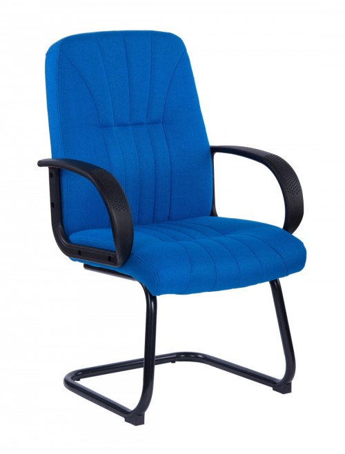 Visitors Chair Blue Pluto Cantilever Chair BCF/S511AV/BL by Eliza Tinsley