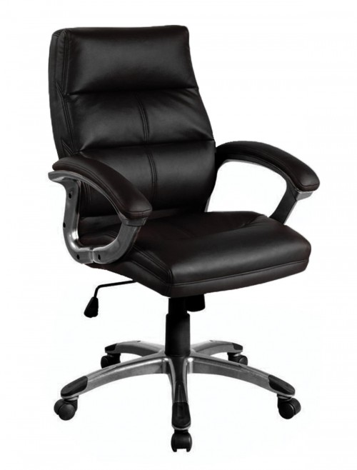 Office Chairs Black Leather Effect Greenwich Executive Chair BCP/T101/BK by Eliza Tinsley