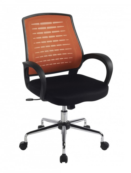 Mesh Office Chair Orange Carousel Operator Chair BCM/F1203/OG by Eliza Tinsley