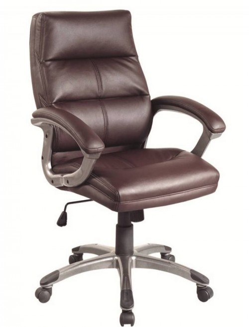 Office Chairs Burgundy Leather Effect Greenwich Executive Chair BCP/T101/BY by Eliza Tinsley