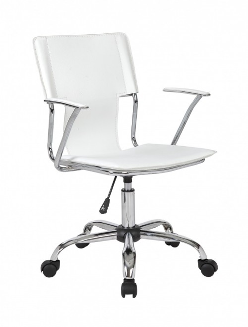 Office Chair Trento Designer White Armchair BCP/B704/WH by Eliza Tinsley