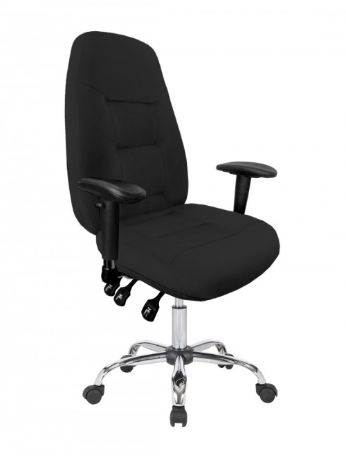 Office Chair Black Babylon 24 Hour Operator Chair BCF/R440/BK by Eliza Tinsley