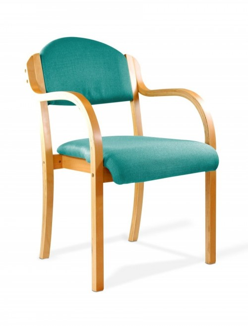Reception Seating Aqua Tahara Stackable Visitors Chair 2050/BE/AQ by Eliza Tinsley