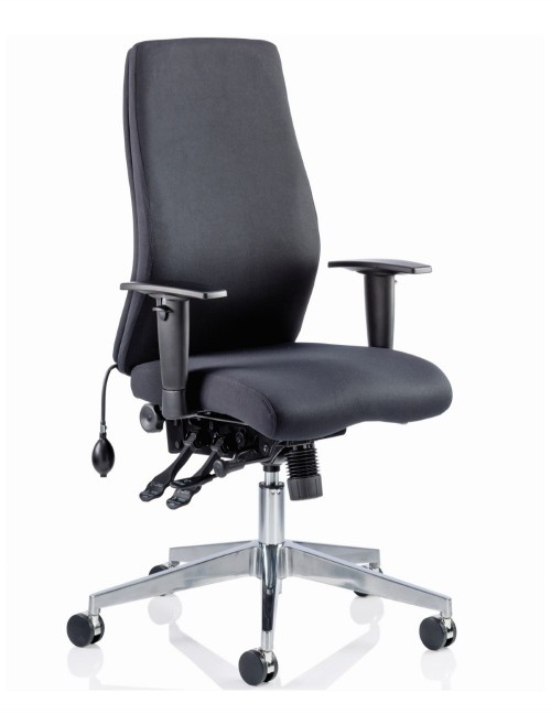 Office Chair Black Onyx 24 Hour Ergonomic Computer Chair OP000095 by Dynamic