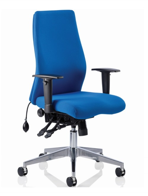 Office Chair Blue Onyx 24 Hour Ergonomic Computer Chair OP000097 by Dynamic