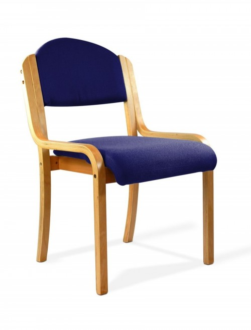 Reception Seating Blue Tahara Stackable Visitors Chair 2070/BE/BL by Eliza Tinsley