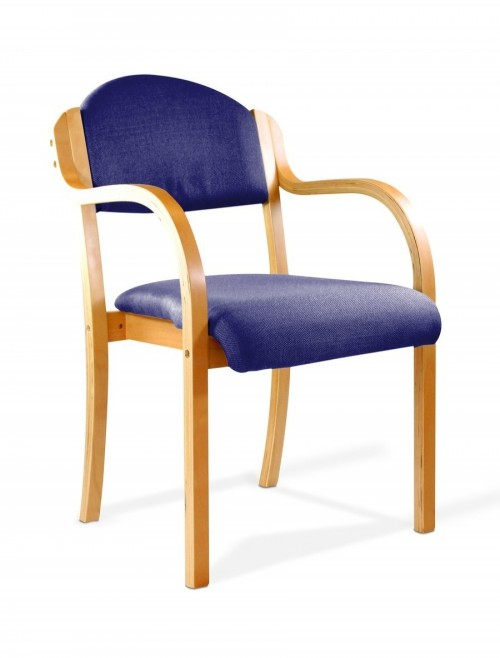Reception Seating Blue Tahara Stackable Visitors Chair 2050/BE/BL by Eliza Tinsley