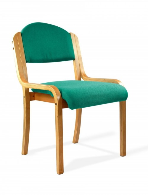 Reception Seating Aqua Tahara Stackable Visitors Chair 2070/BE/AQ by Eliza Tinsley