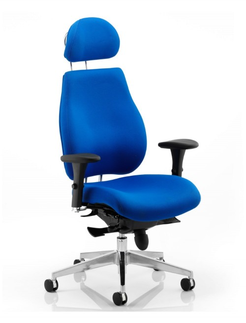 Office Chair Blue Chiro Plus 24 Hour Ergonomic Computer Chair PO000004 by Dynamic
