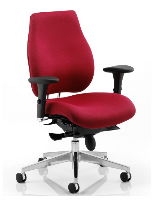 Office Chair Wine Chiro Plus 24 Hour Ergonomic Computer Chair PO000018 by Dynamic