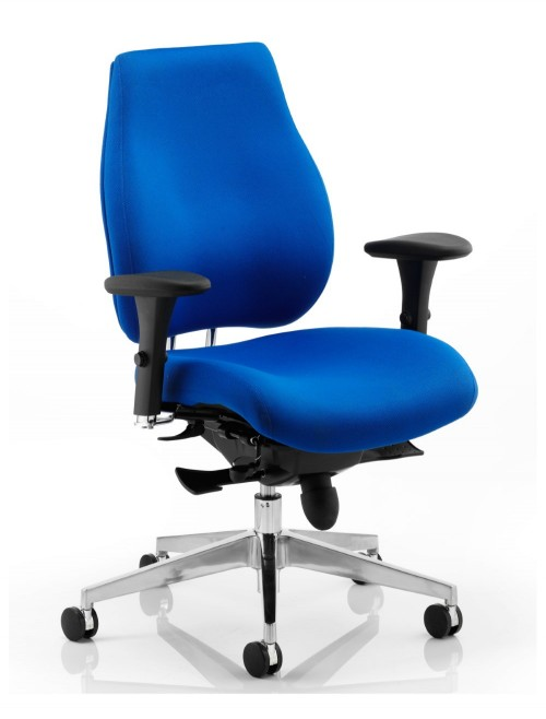 Office Chair Blue Chiro Plus 24 Hour Ergonomic Computer Chair PO000003 by Dynamic