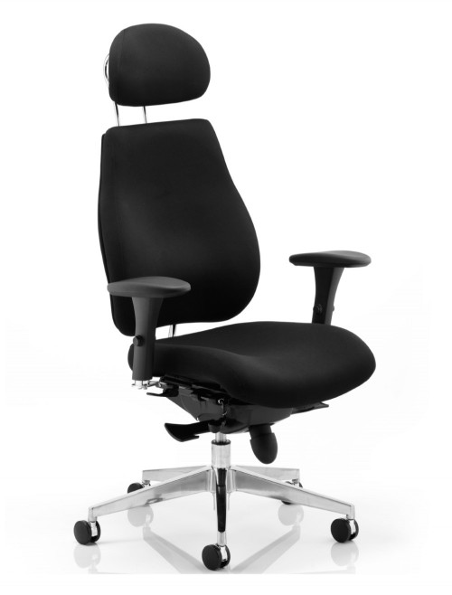 Office Chair Black Chiro Plus 24 Hour Ergonomic Computer Chair PO000002 by Dynamic