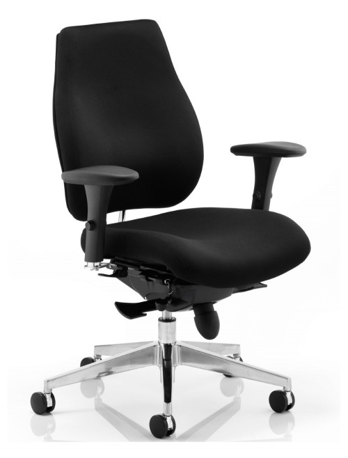 Office Chair Black Chiro Plus 24 Hour Ergonomic Computer Chair PO000001 by Dynamic