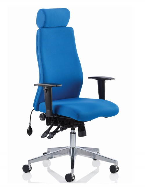 Office Chair Blue Onyx 24 Hour Ergonomic Computer Chair with Headreast OP000096 by Dynamic