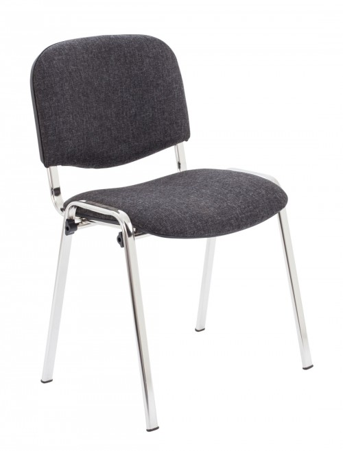 Reception Seating Charcoal Club Stackable Visitors Chair CH0503CH by TC Office