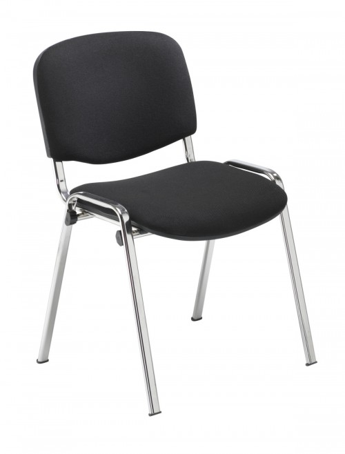 Reception Seating Black Club Stackable Visitors Chair CH0503BK by TC Office
