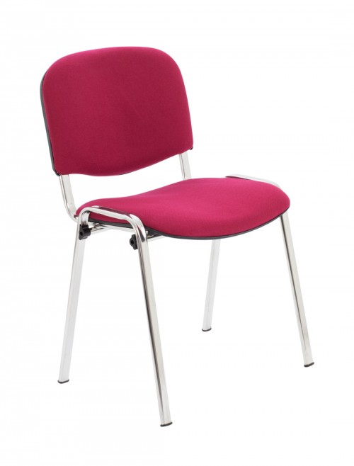 Reception Seating Claret Club Stackable Visitors Chair CH0503CL by TC Office
