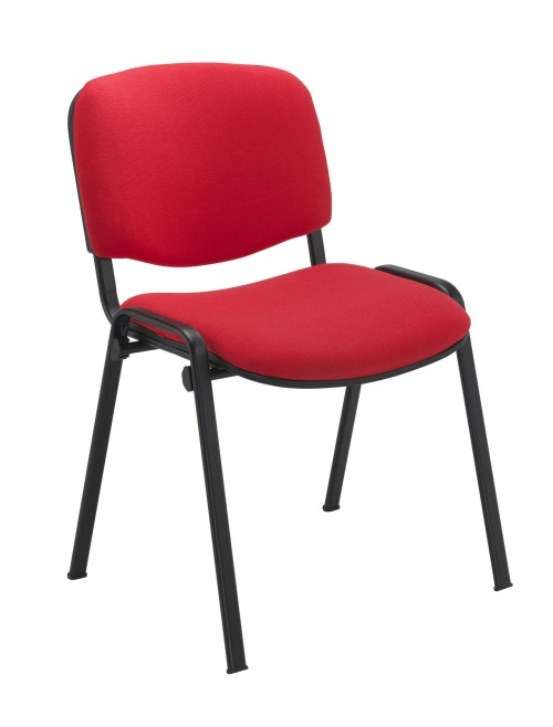 Reception Seating Red Club Stackable Visitors Chair CH0500RD by TC Office