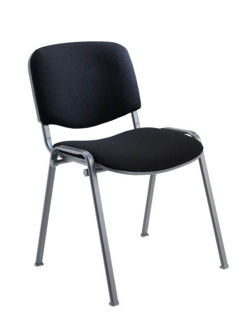 Reception Seating Black Club Stackable Visitors Chair CH0500BK by TC Office