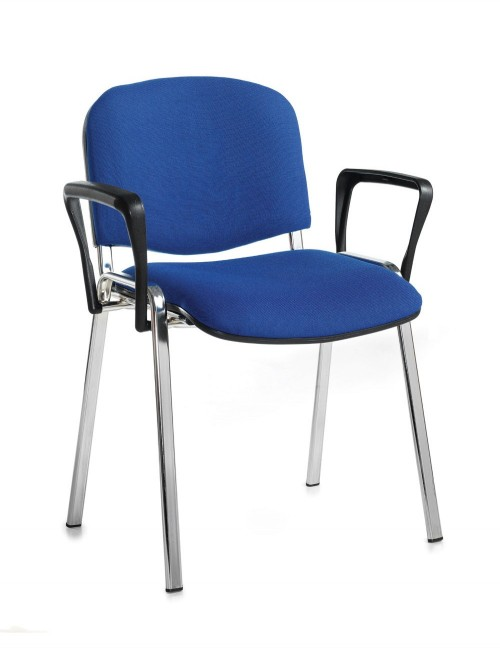 Stacking Chairs Taurus Blue Reception Chairs with Arms TAU40006-B by Dams