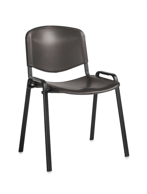 Stacking Chairs Taurus Plastic Black Reception Chairs TAU40002-PK by Dams