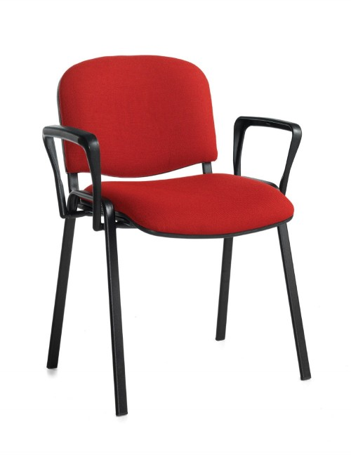 Stacking Chairs Taurus Burgundy Reception Chairs with Arms TAU40003-BU by Dams