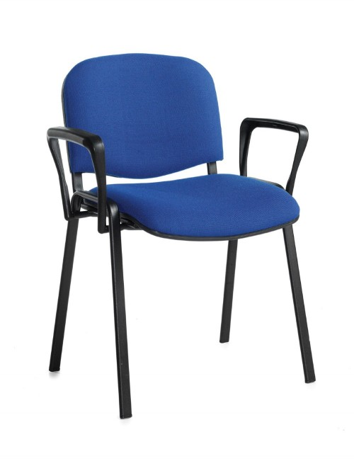 Stacking Chairs Taurus Blue Reception Chairs with Arms TAU40003-B by Dams